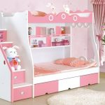Lit mezzanine rose pour deux filles