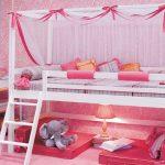 Lit mezzanine rose Princesse