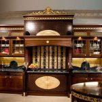 Cuisine en bois de luxe dans un design luxueux.