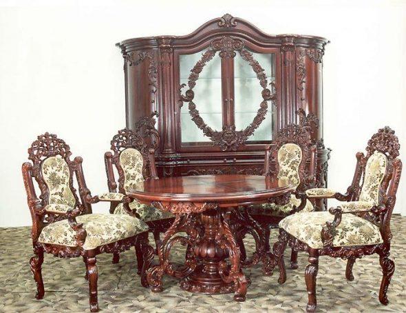 Élégant mobilier baroque italien
