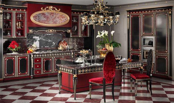 Cuisine baroque de luxe