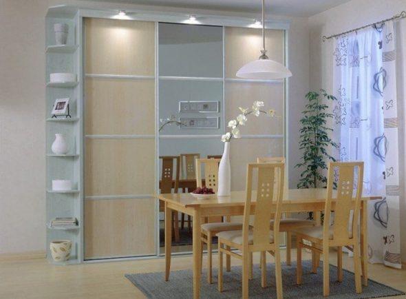 Armoire lumineuse pour la salle à manger-salon