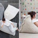 Chaises tricotées douillettes et confortables