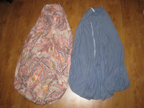 Partie intérieure et extérieure du sac de la chaise