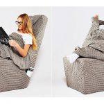 Couverture tricotée et plaid pour une chaise