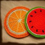 couvre-tabourets tricotés