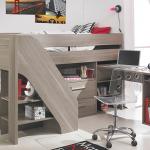 Lit mezzanine compact et fonctionnel