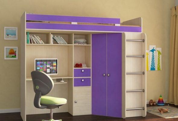 Lit mezzanine violet