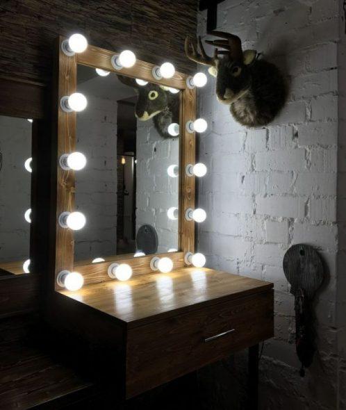 Pieni peilipöytä ja peili