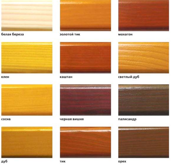 Huonekalujen värit