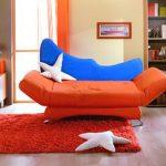 Canapé-lit pliant orange
