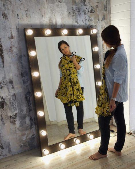 Tyylikäs suorakulmainen peili