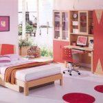 Chambre pour l'adolescent en rouge