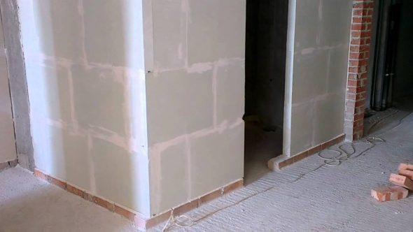Gips muur