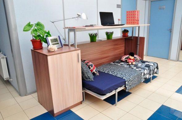 Table de lit transformateur