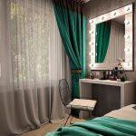 Kauneuden kulma ja peili makuuhuoneessa