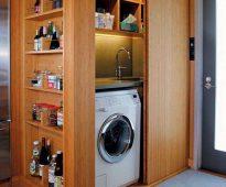 Armoire encastrée pour machine à laver