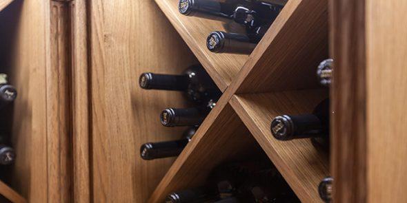 Casier à vin diagonal