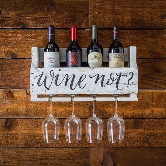 Étagère horizontale pour le vin