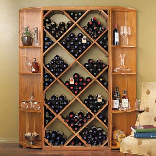 Porte-bouteilles en bois faites-le vous-même