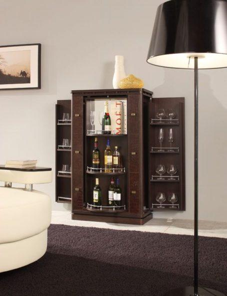 Minibar dans le salon