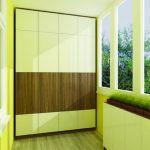 Grande armoire sur la spacieuse véranda
