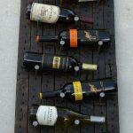 Casier à bouteilles original de style loft