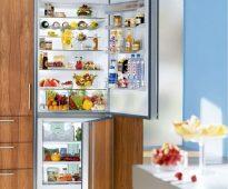 We selecteren een speciaal model om de koelkast in het keukenmeubilair te integreren