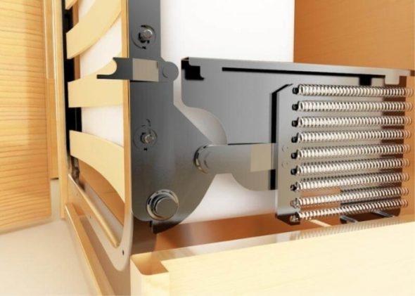 Mécanisme à ressort pour lit pliant