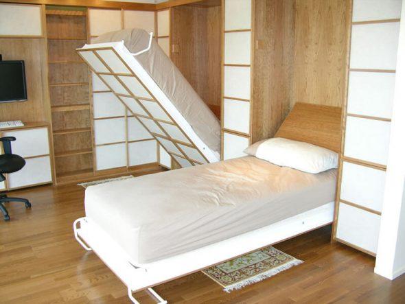 Cache le lit dans le placard