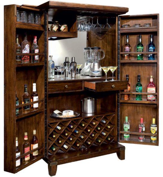 Bar chic dans le salon