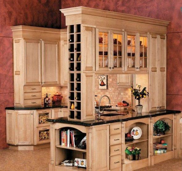 Cave à vin dans la cuisine