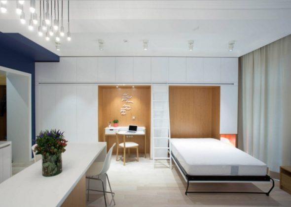 Style loft confortable et lumineux pour un petit appartement