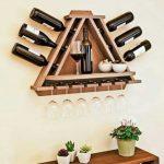 Forme trapézoïdale de l'étagère à vin