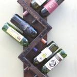 Étagère à vin en zigzag