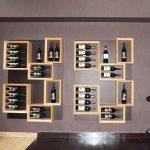 Étagères à vin de forme inhabituelle