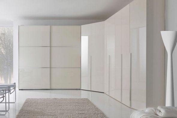 Grand meuble d'angle blanc