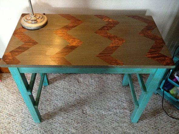 Coloration de la table avec un motif