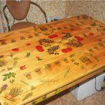 Decoupage est capable de transformer la table de la cuisine