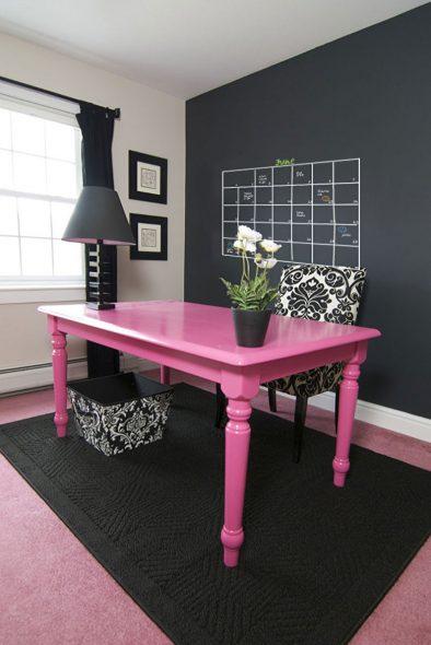 Table en bois après coloration