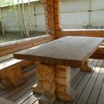 Table en bois solide et fiable