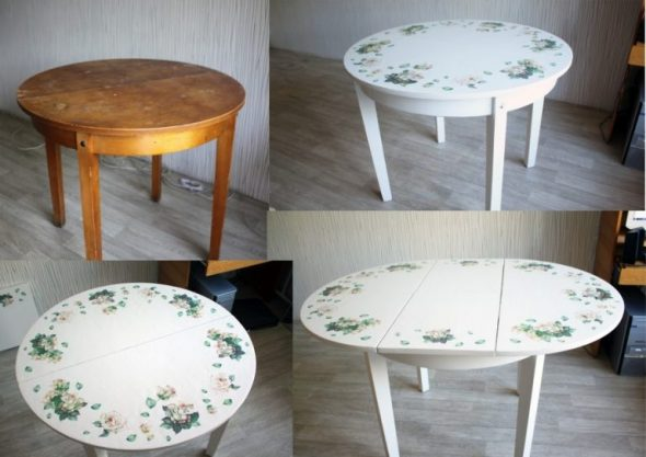 Table pliante ronde en bois