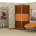 Petit meuble d'angle - un accent brillant dans la pièce