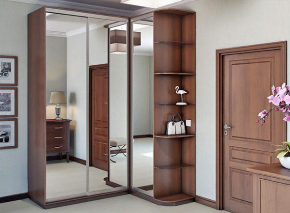 Modèle d'armoire de coin miroir