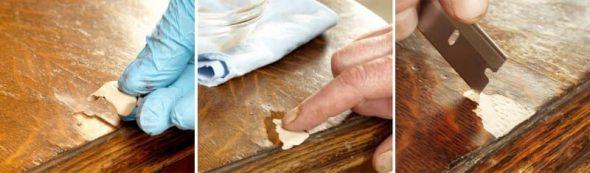 Restauratie gefineerd tafelblad
