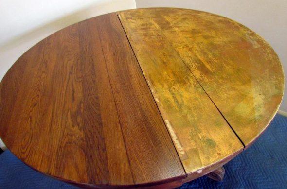Restauration de la table par broyage