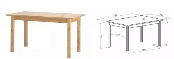 Conception de table de jardin