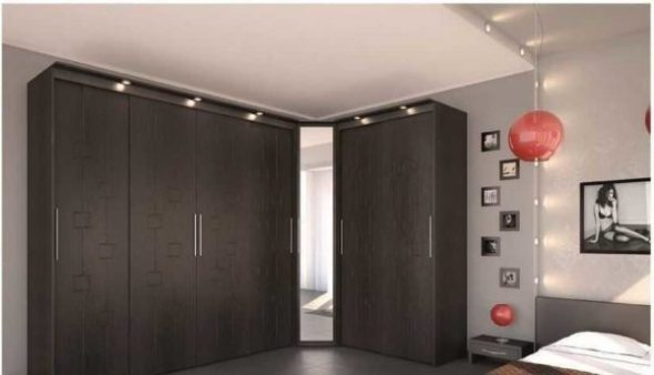 Armoire d'angle MDF