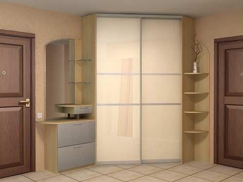 Cabinet avec des façades brillantes