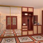 Armoire grand miroir avec cintres ouverts pour le couloir
